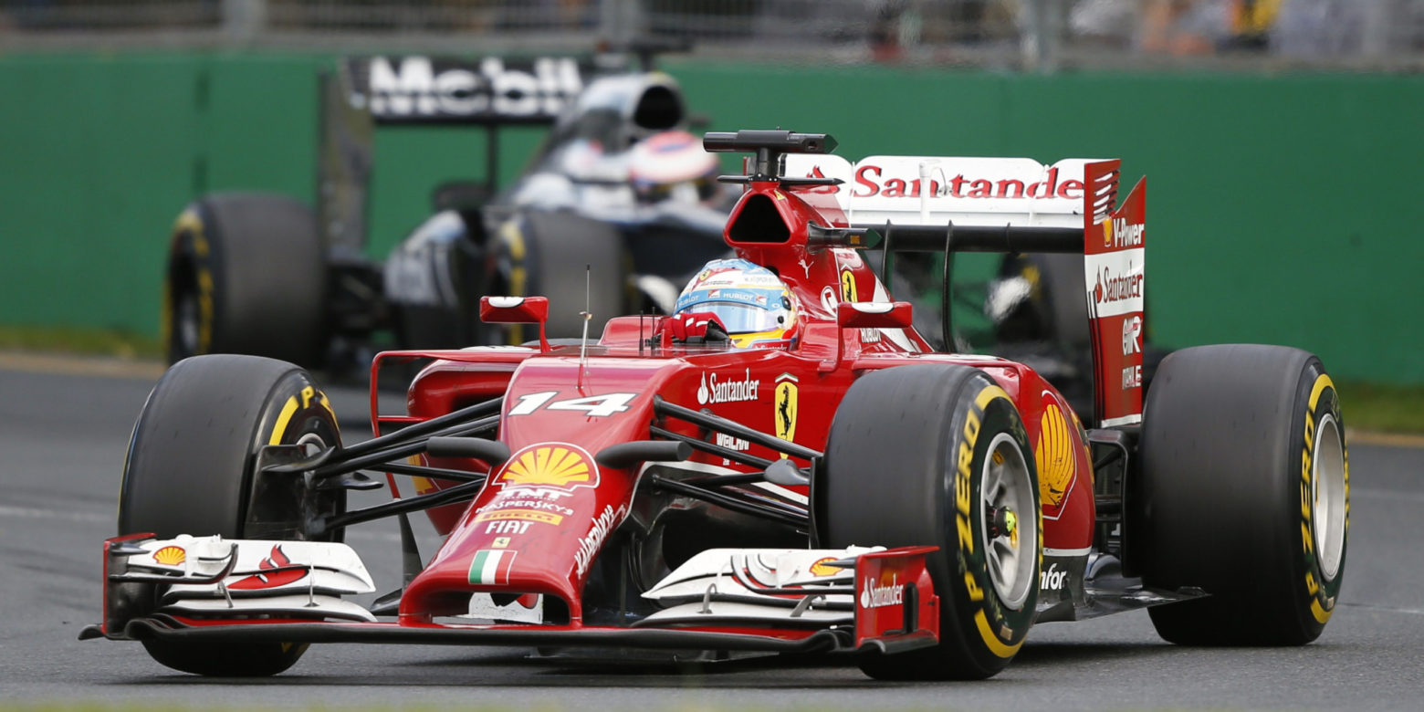 Ferrari Formula One driver Alonso of Spain drives during the Australian F1 Grand Prix in Melbourne