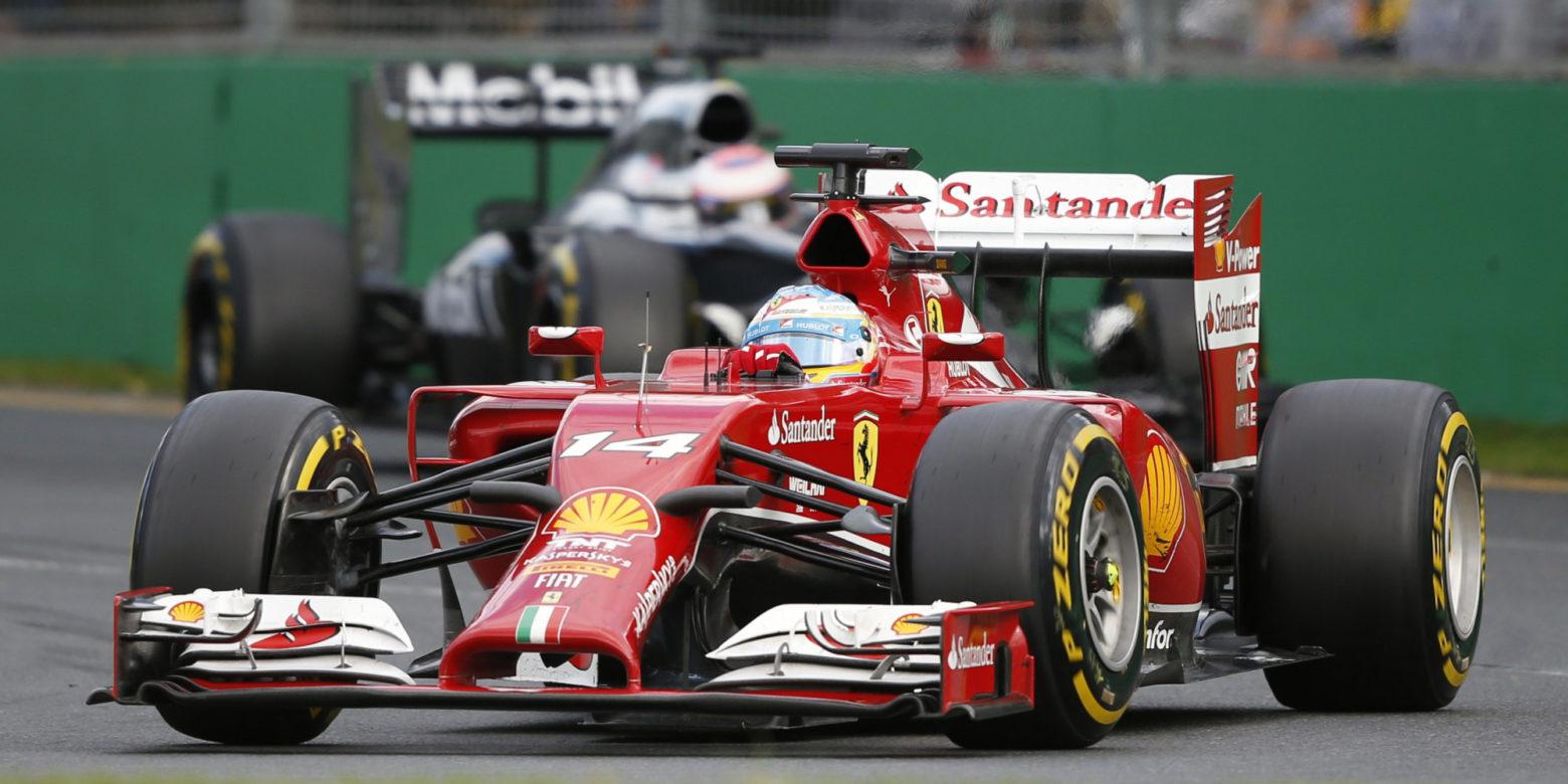 Ferrari Formula One driver Alonso of Spain drives during the Australian F1 Grand Prix in Melbourne